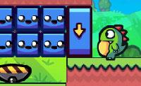Joga agora a sequela de Dino camaleão! Podes ajudar o dino camaleão verde a alcançar seu disco voador ? Em cada nível tens que apanhar um número mínimo de blocos antes que ele atinja o disco voador. Estes blocos têm três cores diferentes: cor-de-rosa , verde e azul . Somente quando o dinossauro tiver a mesma cor que o bloco ele o pode apanhar. Boa sorte!
