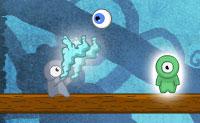 Um jogo de fisgas muito desafiante! Podes levar o olho ao portal que conduz ao nível seguinte? Tens a ajuda de figuras verdes, vermelhas, azuis claras e cinzento. As figuras vermelhas apanham o olho e arremessam-no para longe. As figuras verdes atraem o olho e , em seguida, seguram-no. As figuras azuis param o olho por um tempo e , em seguida, libertam-no. As figuras cinzentas sopram o olho numa determinada direção: isso pode ser muito prático para superar uma distância maior. Para cada vez que o olho atinja um obstáculo, vais perder uma estrela. Depois de quatro colisões, acabou. Tenta ganhar três estrelas em cada nível!