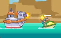 Um golfinho chamado Fred foi capturado num navio. Tu vais libertá-lo, para que ele possa nadar, saltar e mergulhar novamente no oceano onde ele pertence! A tripulação do navio vai tentar impedir-te de todas as maneiras possíveis. Talvez se tenham esquecido que tu, também, estás equipado com armas!