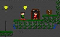 Aqui está a terceira parte de Cripta Zombie! O Ronald e o Gerald aterraram numa caverna, e eles querem fugir de lá. Eles terão que alcançar a saída em cada nível. Eles devem ajudar-se um ao outro, por exemplo, pressionando botões para abrir portas. Podes guiá-los até à saída, usando todos os trampolins e alavancas de forma eficiente?
