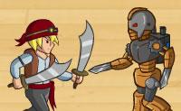 Pirata, ainda tens um longo caminho a percorrer. Levanta as velas e parte em busca do tesouro! Os caçadores de tesouros estão atrás dos teus mapas de tesouro. Então, defende-os da melhor forma possível , colocando armas defensivas e atacando os inimigos, também.