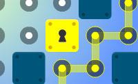 Liga tantos pontos quanto possível com os outros desenhando linhas horizontais ou verticais. Quando ligares pontos suficientes uns com os outros, podes ir até a saída. Apanha as chaves: há uma cor diferente para cada porta.