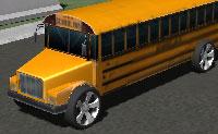 Tenta estacionar o teu autocarro escolar no lugar certo, sem tocar nos outros carros ou itens.