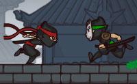 Sabes o que é um kunoichi? É um ninja feminino. Alcança a bandeira vermelha tão rápido quanto puderes. Para este efeito, terás que saltar sobre abismos, subir paredes, quebrar barreiras e eliminar os inimigos!