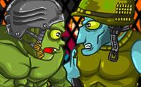 Os zombies estão a lutar ferozmente neste jogo de luta de zombies! Equipa o teu zombie, o melhor que possas e tenta ganhar e usar o máximo de atualizações possível.