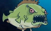 Cada piranha que se preze bebe bastante sangue humano todos os dias. Debaixo de água o peixe sanguinário vai em busca de vítimas, e assim que avista um, ele salta para atacar. Utiliza o sangue para comprar atualizações e vais ver que vais ter que reunir mais e mais litros para passar para o próximo nível! Assim reúne o máximo possível!