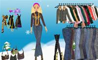 Desperte a estilista que há em si! Vista esta rapariga com roupas de Inverno e veja como ela fica!