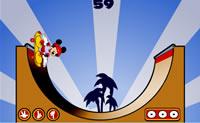 Controle o Mickey enquanto ele faz skate no parque, clicando nos butões!