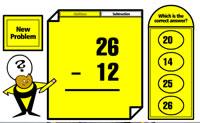 Melhore a sua matemática adicionando ou subtraindo os números apresentados.
