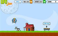 Neste jogo a tua missão é deixar o disco voador aterrar em segurança no campo de aterragem!