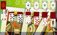 Esta é uma versão engraçada do jogo de cartas Solitário.