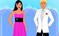 Escolhe uma menina e um menino e veste-os de maneira a ficarem bonitos para a gala.