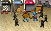 Neste jogo de luta vences tudo e todos os que encontras!