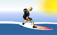 O teu equilíbrio está em forma e consegues surfar um pouco?