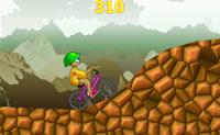 Salta para cima da tua bicicleta de cross e tenta alcançar a meta!