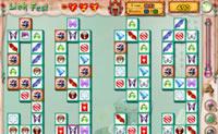 Procura as duas pedras de mahjong iguais que estejam ao lado uma da outra. As pedras têm mesmo de ficar uma ao lado da outra.