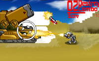 Este � um jogo divertido onde tu como militar andas num deserto. V�rios tanques aproximam-se de ti e tens de disparar contra eles.