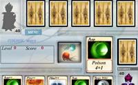 Tens 5 cartas. Em cada jogada tens de escolher uma carta e depois clica no botão Execute. Tenta vencer assim o teu adversário!