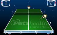Joga com Garfield uma partidinha de ténis de mesa contra o adversário!