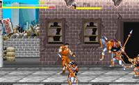 Este é um jogo de luta de rua engraçado em que tens de tentar acabar com os que encontras. No início do jogo carrega no botão cor-de-laranja para começar.