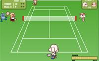 Ajuda Tobby a derrotar o seu adversário neste jogo de ténis!