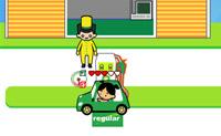 Tenta abastecer de gasolina todos os clientes que estão com os carros preparados!