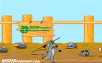 Ajuda o rato a atirar a lança o mais longe possível!