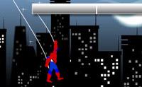 Ajude o Spiderman a lan�ar a sua teia para os edif�cios da cidade.