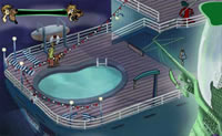 O Scooby Doo est num barco assombrado e precisa de completar todas as tarefas com sucesso. Podes ajud-lo a faz-lo?