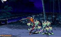 Passa os níveis e como espadachim derrota todos os inimigos.