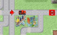 Neste jogo fascinante deve arrastar as setas vermelhas e deixá-las cair no caminho para levar o camião vermelho à saída. Dica: não é necessário que utilize o caminho!