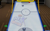 Jogue uma partida de Air Hockey contra o computador.