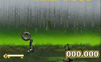 A que distância consegue lançar o pneu neste jogo de lançar pneus?