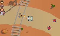 Jogue neste Foofa Race contra outros jogadores. Tente ser mais rápido do que eles e atire neles com as suas armas.