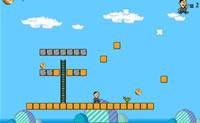 Neste tipo de Mario Game você joga com Larry.