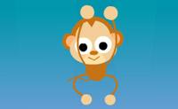 Podes ajudar este pequeno, belo macaco a apanhar todos os frutos que continuam a cair?