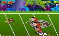 Tente com Taz evitar o maior número possível de interceptações. Quantas aterrizagens você pode fazer neste jogo de Rugby?