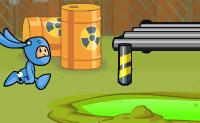 No reactor químico tens de juntar coisas. Salta por cima das coisas químicas, senão morres.
