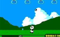 Faz com que este panda retire todas as nuvenzinhas do ar! Tem atenção às gotinhas que as nuvens deixam cair: se estas caírem em cima do panda, custa-lhe uma vida.