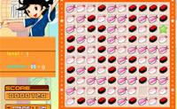 Forma quadrados de blocos de sushi iguais para que desapareçam.