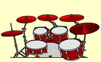 Toque o tambor. Pode at� mesmo gravar a sess�o de tambor para escutar depois!
