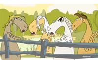 Clique sobre os cavalos que emitem um som bonito. Com isso pode obter uma bonita melodia.