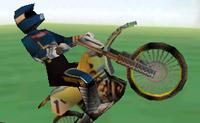 Com a tua moto faz um salto alto pelo ar e faz acrobacias espectaculares!