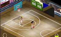 Jogue uma partida de basquete contra o adversário.