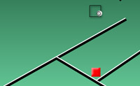 Dirija a bola ao bloco vermelho para alcançar o nível.