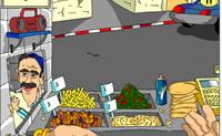 Faz uma deliciosa sanduíche de falafel com batatas fritas para os teus clientes!