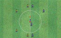 Neste jogo de futebol no Japão, jogue contra os adversários!