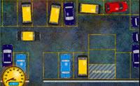 Ajuda Pakya a estacionar o seu táxi sem problemas no parque de estacionamento.