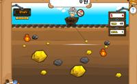 Apanha todas as pepitas de ouro para ganhar o dinheiro e passar ao nível seguinte.