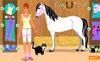 Tente enfeitar o seu cavalo o melhor possível.